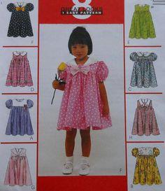 Toddler Summer / Spring Dress Sewing Pattern