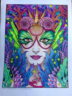 Timelapse Coloring Book Art Fab Faun Superspeed By Cristina McAllister
