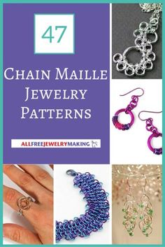 47 Free Chain Maille Jewelry Patterns | Take a peak at this amazing NEWLY UPDATED page filled with chain maille jewelry!