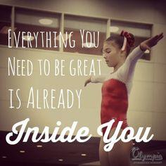 Olympia Gymnastics Quote Inspiration