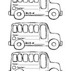 This is a bus tag template for the first weeks of school.  The little ones usually wear them around their necks on their way to the bus in the afte...