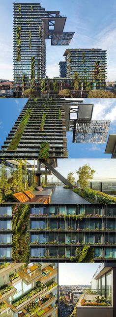 Gracias a la moda de los jardines verticales, estamos constatando una tendencia en el diseño arquitectónico: estructuras cubiertas en gran parte por vegetación.