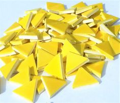 Mosaic Tiles-1Yellow triangle tiles ceramic mosaic by mosaicmonkey