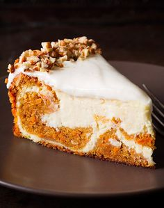 Carrot Cake Cheesecake - Carrot Cake Recipes That Put All Other Cakes To Shame : huff post taste