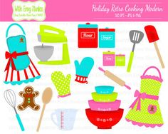 50% OFF  Cooking Clipart  Baking Clipart  Holiday Baking