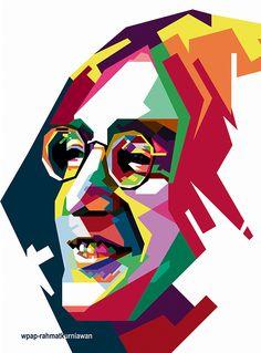 John lennon in wpap on behance mold making искусство, маркетри, иллюстрации. John Lennon, Pop Art Drawing, Pop Art Portraits, Sunflower Wallpaper, Arte Pop, Face Art, The Beatles, Sculpture Art, Photo Art