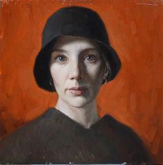 "Cornelia Hernes ""Self Portrait in Red & Black"" 30 Portrait Sculpture, Portrait Drawing, Red Portrait, Artist Inspiration, Figure Painting, Painting, Florence Academy Of Art, Figurative Artists, Portrait Art"