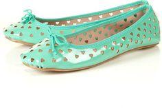 ShopStyle: VALENTINA Heart Ballet Pumps