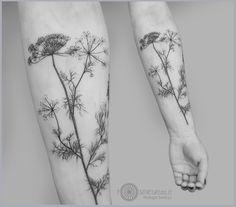 graphic blackwork botanical tattoo idea on forearm Line Tattoos, Black Tattoos, Body Art Tattoos, Line Tattoo Arm, Buddha Tattoos, Pretty Tattoos, Beautiful Tattoos, Cool Tattoos, Tatoos