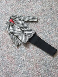Ken Doll Suit  Black Tweed Jacket with by QuiltedandArtatDeana, $27.00