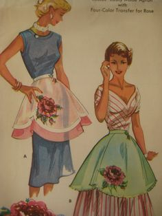 Vintage McCall's 1799 Sewing Pattern 1950s Apron by sewbettyanddot