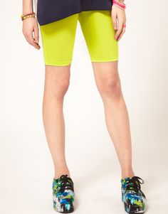 neon cycling shorts