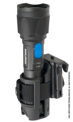 Brite-Strike's Roto-Loc Articulating Tactical Holster answers the need for the officer who desires a holster which can be positioned at various angles to facilitate the draw or greater comfort. The positive ratchet allows the user to position the holster at any angle desired through a full 360 degrees and have it stay there. This proven method has been used with baton scabbards for years and is now available for the DLC-200-4-MIL-RC. To use the light in a hands free mode, place the light ...