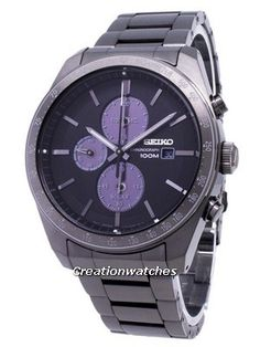 Seiko Analog Business Solar Chronograph Black Mens for sale online Citizen Eco, Mens Watches Leather, Watches For Men, Seiko Sportura, Seiko Solar, Seiko Men, Brown Leather Watch, Black Bracelets, Seiko Watches