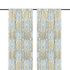Aqua Cambria Curtain Panel Set, 84 in. | Kirklands