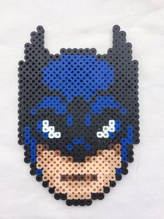 Batman Perler Bead Sprite for sale by PrettyPixelations! Fuse Beads, Perler Beads, Perler Bead Art, Pixel Art, Arte Pixel, Pearler Bead Patterns, Perler Patterns, Beading Patterns, Crochet Flower Patterns