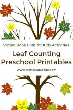 Leaf themed counting printable for preschoolers. Fun fall activity based on a popular children's book about autumn leaves...