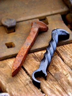 Railroad Spike Claw Bottle Opener by IronOakFarm on Etsy.