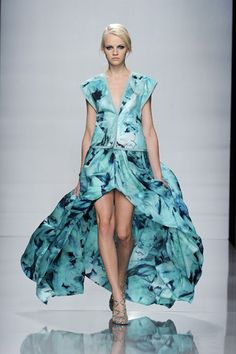 Love this blue creation ~ The house of Emanuel Ungaro, which showed this for summer 2012 (Courtesy of EmanuelUngaro.com)
