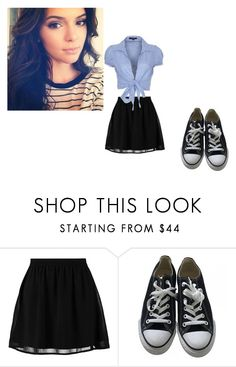 """""""Untitled #177"""" by helen95 on Polyvore featuring even&odd, Converse and QED London"""