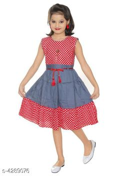 Checkout this latest Frocks & Dresses Product Name: *Cute Kid's Girl's Frocks* Fabric: Cotton Sleeve Length: Sleeveless Pattern: Printed Multipack: Single Sizes: 1-2 Years (Bust Size: 20 in)  2-3 Years (Bust Size: 22 in)  3-4 Years (Bust Size: 24 in)  4-5 Years (Bust Size: 26 in)  5-6 Years (Bust Size: 28 in)  6-7 Years (Bust Size: 30 in)  Country of Origin: India Easy Returns Available In Case Of Any Issue   Catalog Rating: ★4.1 (3720)  Catalog Name: Princess Trendy Girls Frocks & Dresses CatalogID_614595 C62-SC1141 Code: 832-4289076-915