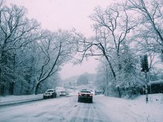 Hard to drive in this weather but it's beautiful.