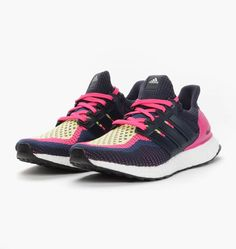the latest eae6b 0239a adidas Ultra Boost Womens Pink Navy