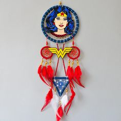 Wonder Woman Gift DC Superhero Dream Catcher Wall Hanging Fan