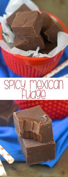 This Mexican Chocolate Fudge recipe is the most amazing combination of spicy and sweet!