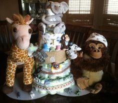 African Jungle Baby Diaper Cake