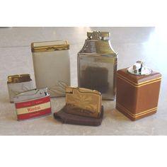 Vintage Cigarette Lighter & Case Lot  Gardner Japan Ronson  Penguin  Elgin