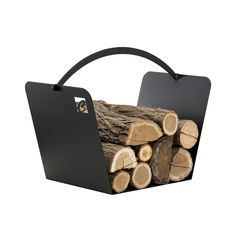Buy now online on Viadurini the Indoor firewood carrier made of steel PLO, made in Italy by Caf Design Wood Holder For Fireplace, Fireplace Tools, Home Fireplace, Fireplaces, Firewood Holder, Firewood Storage, Design Set, Indoor Log Holder, Firewood Carrier