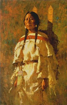 Cheyenne Mother - Art by HOWARD TERPNING http://www.firstpeople.us/FP-Html-Pictures/HowardTerpning_pg1.html