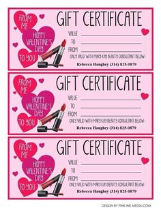 Mary kay valentine 39 s gift certificates mary kay for What to get your best friend for valentines day