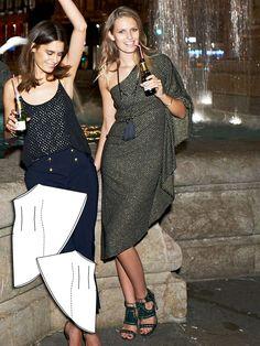 One Shoulder Dress 11/2015 #118 http://www.burdastyle.com/pattern_store/patterns/one-shoulder-dress-112015?utm_source=burdastyle.com&utm_medium=referral&utm_campaign=bs-tta-bl-151102-GirlsNightOutCollection118