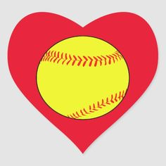 Shop Custom Softball Heart Scrapbook Stickers created by Softballerz. Softball Helmet, Softball Drills, Softball Shirts, Pep Rally, Perler Bead Art, Animal Skulls, Scrapbook Stickers, Door Hangers, Custom Stickers