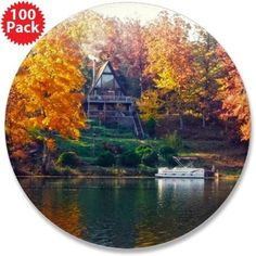 """House on the Lake 3.5"""" Button (100 pack) on CafePress.com"""