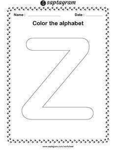 English Worksheets For Kindergarten, Letter Worksheets, Worksheets For Kids, Letters For Kids, Drawing For Kids, Coloring For Kids, Kids Education, Kids Learning, Alphabet