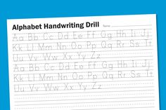 Alphabet Handwriting Drill | Paging Supermom