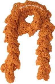 bufanda crochet enrollada