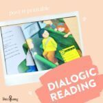 Dialogic reading strategies can take your sessions to a whole new level! Each Story Sidekick comes with pre-made printable post it templates as well as a How To guide so you can implement this strategy with success 🎉 #thespeechbubbleslp #schoolslp #speechtherapy #slpslovelit #slpslovebooks #slpeeps #slp2b #sp