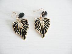 black and gold leaf