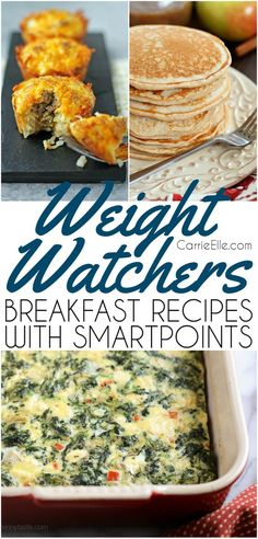 Weight Watchers Frühstücksrezepte mit SmartPoints - New Ideas Weight Watcher Dinners, Plan Weight Watchers, Petit Déjeuner Weight Watcher, Weight Watchers Breakfast, Weight Loss Snacks, Healthy Weight Loss, Ww Recipes, Brunch Recipes, Breakfast Recipes