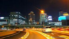 阪神高速環状線 大阪夜景ドライブ Hanshin Expressway Osaka Loop Night Drive Japan