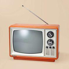 Vintage orange television