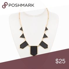 House of Harlow 1960 Black Leather Necklace Classic black leather and gold necklace. Goes with so much! Only worn a few times and in good condition. House of Harlow 1960 Jewelry Necklaces