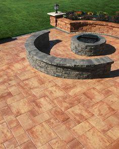 Nicolock's Serafina Firepit Kit - contemporary - patio - new york - Nicolock Paving Stones and Retaining Walls