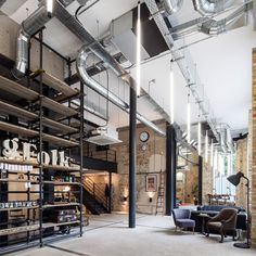 3 Honest Tips AND Tricks: Industrial Apartment Facade industrial chic design.Industrial Home Bar industrial house diy. Industrial Chic, Industrial Bedroom, Industrial House, Industrial Interiors, Vintage Industrial, Industrial Shelving, Industrial Lighting, Industrial Windows, Industrial Restaurant