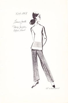 Original Vintage Fashion Sketch Stat Sheet by the by AwesomeMema