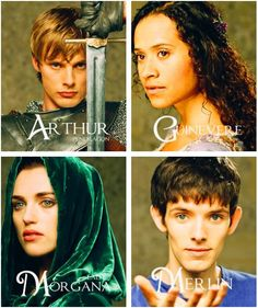 Arthur, Gwen, Morgana, and Merlin.